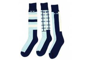 Newmarket Knee Socks in Navy