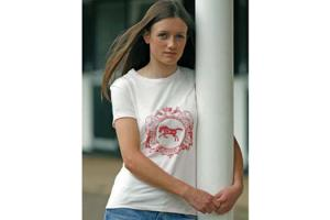 Horseware Ladies Cotton Tee Shirt in Rosewater