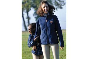 Newmarket Ladies Bonded Reversible Fleece Jacket  in Navy