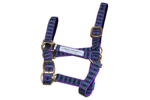 Horseware Headcollar with Logo Navy/Green/Purple/Tartan