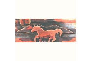 Ildanach Studios Recycled Copper Horse and Mountain Barrette