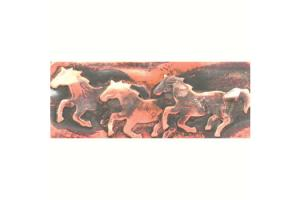 Ildanach Studio Recycled Copper Running Horses Barrette