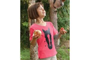 Irideon Kids Ink Blot Tee in Geranium