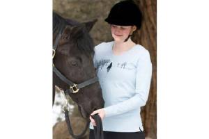 Irideon Women's Trail Ride Tee Shirt in Jack Frost