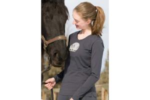 Irideon Women's Moondance Tee Shirt in Charcoal