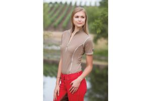 Goode Rider Ideal Show Shirt in Mocha
