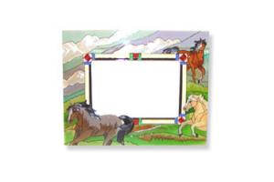 Joan Baker Wild Horses Stained Glass Picture Frame