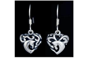 Entwined Horses Earrings