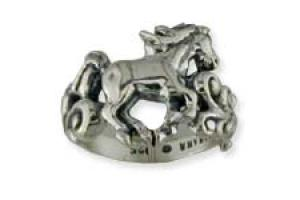 Kabana Sterling Silver Filigree Horse Ring