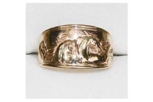 Kabana 14k Gold Antiquity Horses Ring