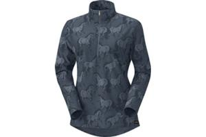 Kerrits Kids Unbridled Half Zip Riding Shirt in Vespar
