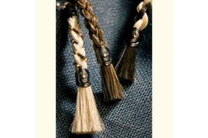 Two-Tone Horse Hair Key Chain by Cowboy Collectibles