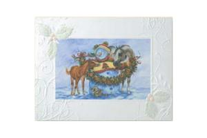 Snow Friends Deluxe Christmas Cards