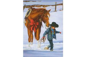 Cowgirl Pony for Christmas Boxed Christmas Cards