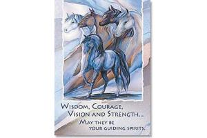 Wisdom, Courage & Strength Horse Magnet