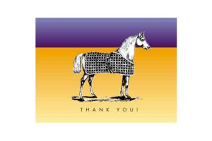 Vintage Horse Boxed Thank You Cards