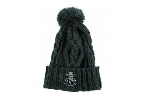 Newmarket Charcoal Knitted POM Hat