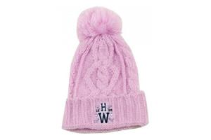 Newmarket Knitted POM Hat in Pink