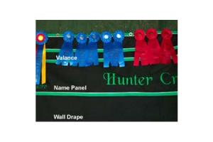 Horse Show Drapes Custom 10 Foot Name Panel