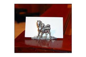 Pewter Mare & Foal Business Card Holder