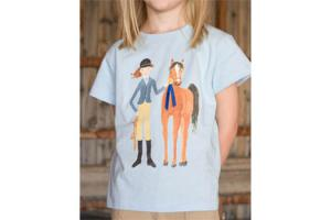 Blue Ribbon Tee Shirt in Light Blue