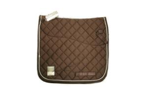 Rambo Grand Prix Show Jumping Saddle Pad in Chocolate and Tan