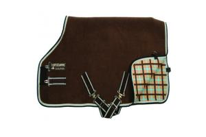 Rambo Grand Prix Fleece with Removable Surcingle in Brown Tan Blue
