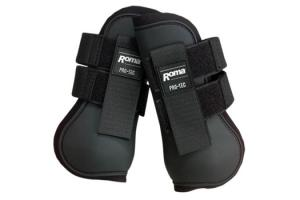 Roma Open Front Boots in Black