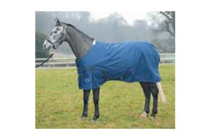 Shires Winter Highlander Turnout Rug in Navy and Cornflower