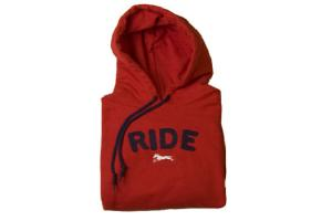 Stirrups Ride Hoodie in Red