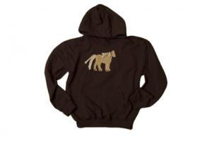 Stirrups Palomino Pony Hoodie in Brown