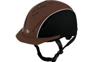Ovation Sync Riding Helmet in Brown and Black