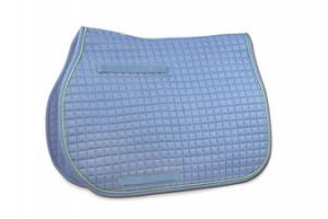 Toklat Passport Square Quilt Saddle Pad in Periwinkle and Ice Green
