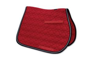 Toklat Tango Flower Diamond GP Saddle Pad in Red and Silver