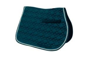 Toklat Tango Flower Diamond GP Saddle Pad in Blueridge and Cream