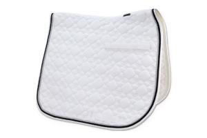 Toklat Tango Flower Diamond Dressage Saddle Pad in White and Black