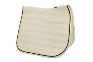 Toklat Tango Flower Diamond Dressage Saddle Pad in Champagne and Black