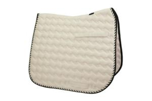 Toklat Tango Wave Dressage Saddle Pad in Champagne and Black