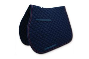 Toklat Passport Diamond Quilt General Purpose Saddle Pad in Navy and Burgundy