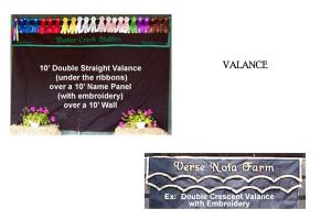 Custom Valance for Horse Show Stall Drapes