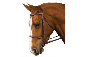 Collegiate Fancy Stitched Brown Padded Bridle