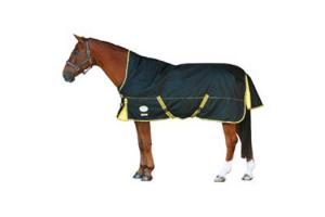 Weatherbeeta Orican Freestyle High Neck Black and Gold Medium Turnout Blanket