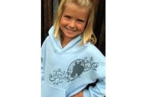 Wyo-Horse Portrait Hoodie in Light Blue