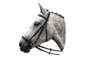 Vespucci Double Raised Dropped Noseband Black