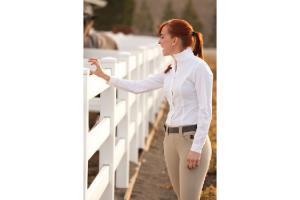 FITS Claire Silk Touch Show Shirt in White