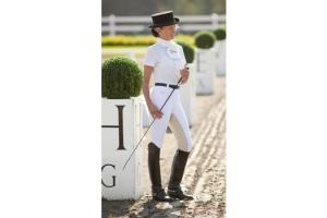 FITS White Energy Rib Full Seat Breeches in White
