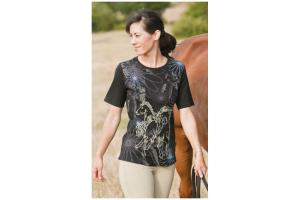 Kerrits Frolik Horse Tee Shirt in Black