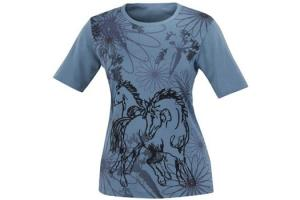 Kerrits Frolik Horse Tee Shirt in French Blue
