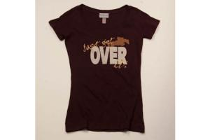 Stirrups Just Get Over It Tee Shirt in Black