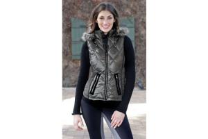 Goode Rider Essential Down Vest in Charcoal